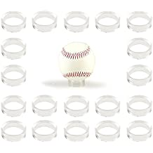Clear Baseball Stand Holder Rings (20 Pack) Round Acrylic Plastic Display 1.22 inches