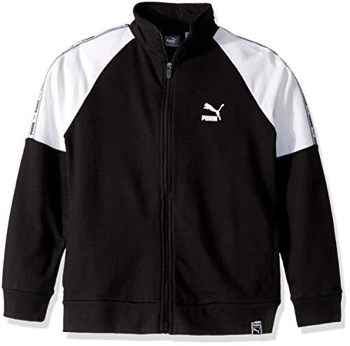 PUMA Big Boys' Track Jacket, Black, Small (8) (Boys Tracksuit Puma)