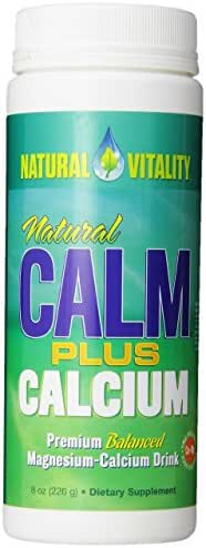 Natural Vitality Calm PLUS Calcium Supplement Powder, Original - 8 ounce (Packaging May Vary)