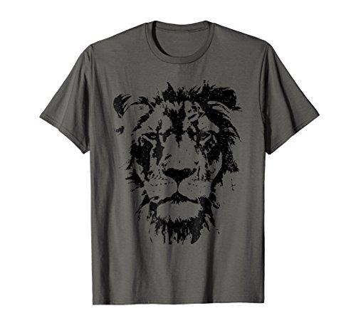 Face Tee Lion - Lion Face T Shirt. Cool Zoo Animals T-Shirt Zoo Keeper Gift