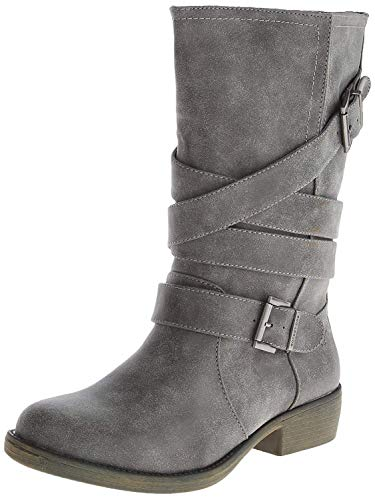 Rocket Dog Women's Trulyml Motorcycle Boot, Charcoal, 7.5 M US