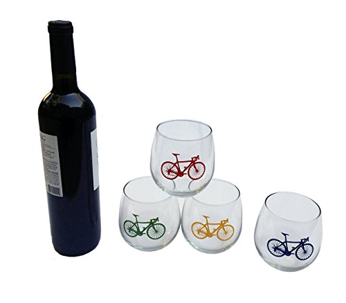 Road Bike Stemless Wine Glasses product image