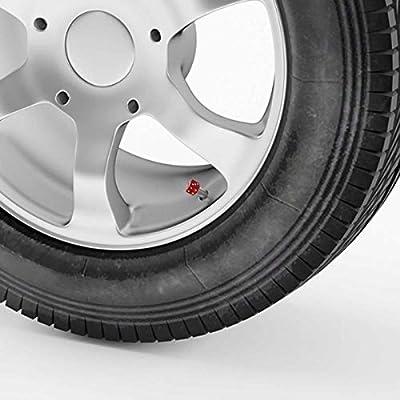 Winka Dice Style Tire Valve Stem Caps Wheel Tire Valve Stem Cover Cap Red: Automotive