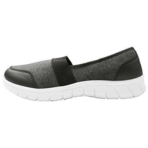 Espuma Tab de Fit Trueboy Gris Memoria Get Ladies deporte Elástica Zapatos Slip Gym Fitness On Go Zapatillas Pwfzqw