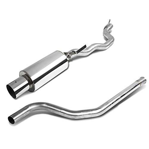 For Chevy Cavalier Stainless Steel Catback Exhaust System 4 inches Muffler (Chrome Muffler Tip) 2.2L Cavalier Cat Back Exhaust