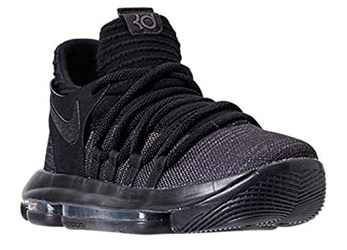 NIKE Zoom KD10 GS Basketball Shoes Kids Youth All Black New 918365-004 - 5