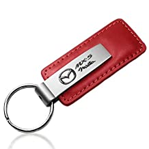 Mazda Miata MX-5 Red Leather Car Key Chain, Official Licensed