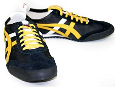 newest b20ab 17a6c Asics Onitsuka Tiger Mexico 66 DX Nylon Trainers in Black ...