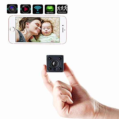 GSNOW Mini Spy Hidden Camera WiFi Small USB Home Security Hidden Camera Detectors with Audio 1080P Night Vision and Motion Detective for Nanny Pets Office Outdoors