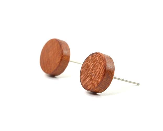 8d69449613f1c8 Plum Stud Earrings, Wood Earrings, Stud Earrings, Wooden Stud Earrings,  Post Earrings, Men Earrings, Wood Jewelry, Wooden Earring, Silver 925, ...