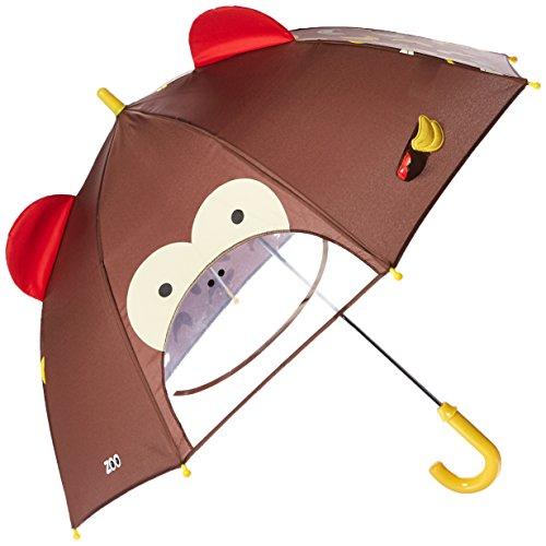 Skip Hop Zoo Little Kid and Toddler Umbrella, Multi Marshall Monkey