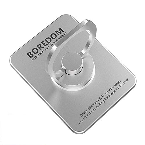 Phone Ring Holder Spinner,ANSTAR 360°High Speed Rotating Phone Finger Grip Holder Kickstand,Relief Anxiety Stress,[Washable] [Reusable] Universal for iPhone Samsung Galaxy Phones LG and More (Silver)