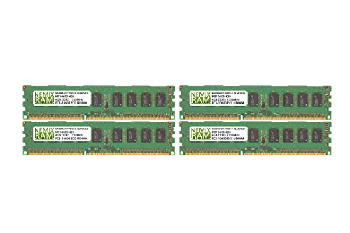 16GB (4X 4GB) DDR3 1333MHz PC3-10600 ECC Certified Memory RAM for APPLE Mac Pro 2010 - 2012 6-core / 12-core