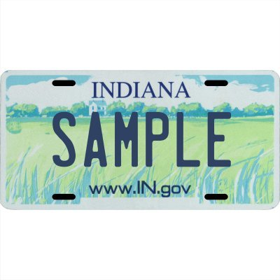 Your Name Your State Custom Metal License Plate - Choose from All 50 States (Indiana, 6