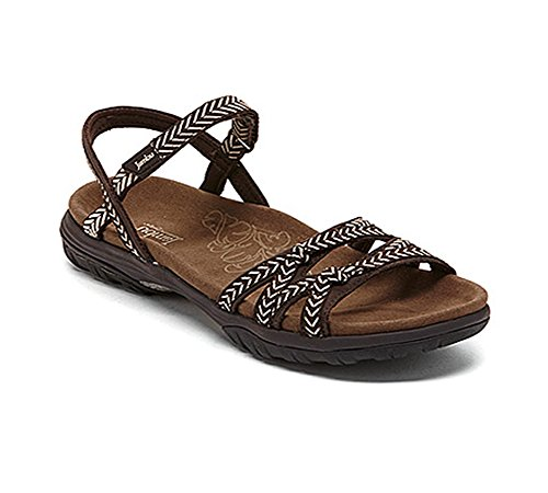 Shoe Flat Sport Brown (Jambu Women's Lunar Fisherman Sandal,Brown,8.5 M US)