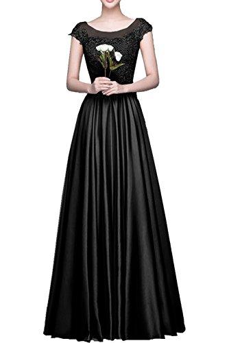 Lamia Braut Langes Satin Spitze Abendkleider Partykleider ...