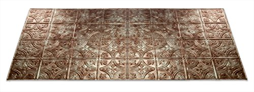 Fasade Easy Installation Traditional 1 Bermuda Bronze Glue Up Ceiling Tile / Ceiling Panel (2' x 4' Panel)