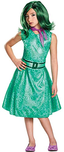 UHC Girl's Disney Inside Out Disgust Outfit Child Halloween Fancy Costume, Child L (10-12)