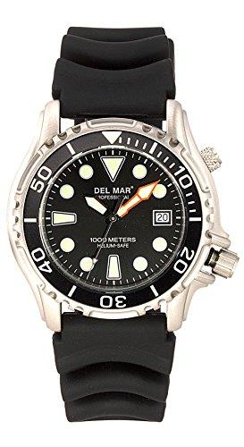- DEL MAR 1000m Professional Diver's Watch W/Helium Valve