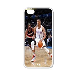 Number 0 Russell Westbrook plastic hard case skin cover for iPhone 6 plus 5.5'' AB686248