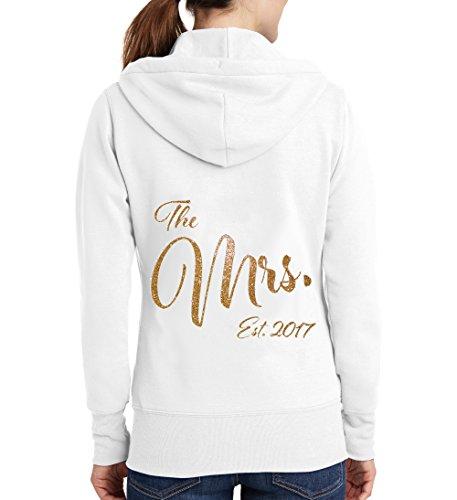 - The Mrs. Glitter Bridal Hoodie - White (S (4-6))
