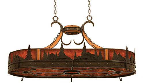 Aspen Oval Chandelier - Kalco 5828NI Aspen 6 Light Pot Rack Pendant