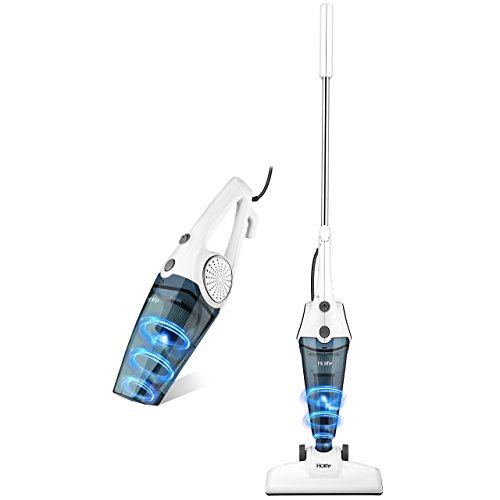 Vacuum Cleaner, HoLife Lightweight Corded Stick Upright and Handheld Vacuum Cleaner with HEPA Sp ...