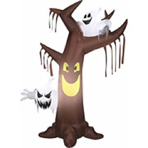 HALLOWEEN AIRBLOWN INFLATABLE HAUNTED TREE WITH GHOSTS