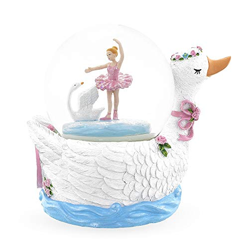 BestPysanky Swan Lake Ballet Musical Snow Globe (Animated Water Globe)