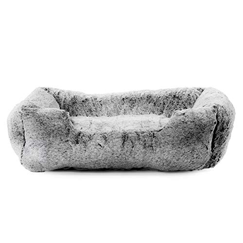 Vanderpump Pets Plush Pet Bed (Grey) For Sale