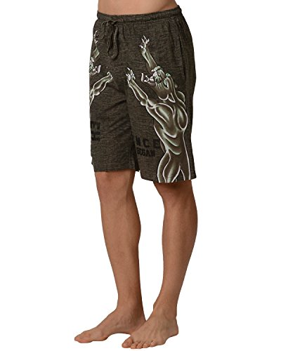Ed Hardy Men's Panther Lounge Shorts (Large, Green Dust)