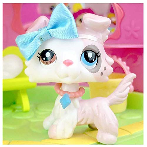 lpsloverqa Rare Custom Made OOAK LPS Collie Spot Ice Cream Different Eyes with Accessories Lot Collection Dog Figure Kids Boys Girls Birthday Christmas Gift Set (Customs Lps Christmas)