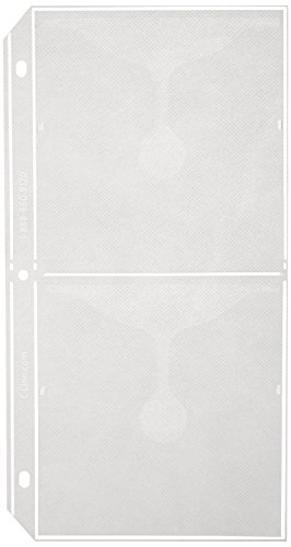 C-Line Deluxe CD Ring Binder Storage Pages for Standard 3-Ring Binders, Stores 4 CDs/Page, 5-13/16 x 11-1/16 Inches, 10 Pages per Pack (61958) - 3 Ring Cd Holder