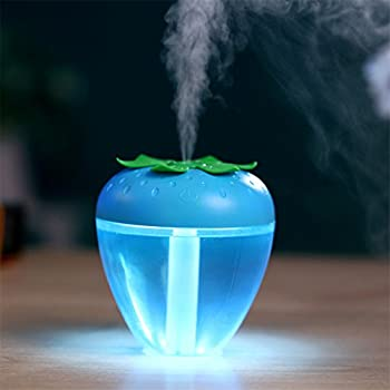 Ecosin Strawberry Home Aroma LED Humidifier Air Diffuser Purifier Atomizer Accelerate the metabolism of cells, stimulate the activity of cells and increase the luster of skin. (Blue)