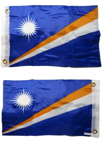 USA Seller12x18 Marshall Islands 2 Faced 2-ply Nylon Wind Resistant Flag 12x18 Inch+ bonus e-book with - Online Marshall Usa Store