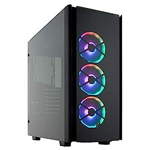 Corsair Obsidian 500D RGB SE Mid-Tower Case, 3 RGB Fans, Smoked Tempered Glass, Aluminium Trim