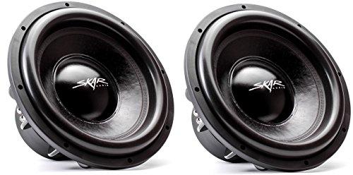 "(2) Skar Audio EVL-15 D4 15"" 2500 Watt Max Power Dual 4 Ohm Car Subwoofer"