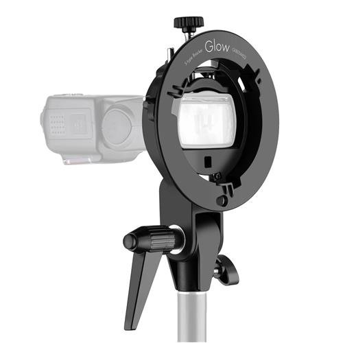 Glow S-Type Bowens Mount Bracket for Speedlites and Flash