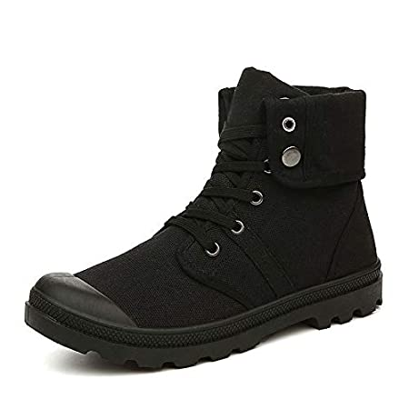 1681636c1f032 Amazon.com: Lannmart Army Men Canvas Boots Outdoor Hiking Desert ...