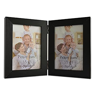 Giftgarden 3.5x5 Double Picture Frame Display 5x3.5 Photo - Our frames are made of wood composite material, it may be look like plastic but not plastic. Art picture frame holds two 3.5x5 size photos, makes the frame safer to use. Also safe for kids, great for art projects. Clear glass front protect your photos from dust, moisture and scratches. Classic elegance picture frame, this frame is really nice quality and very sturdy, antique-look photo frame and a perfect gift for friends, couple, mom, etc Excellent artwork frames is perfect as family gifts for parents or grandparents for table top or wedding decorations - picture-frames, bedroom-decor, bedroom - 41foKuu4tQL. SS400  -