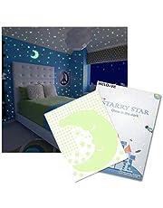 Meloive stickers étoilés muraux lumineux