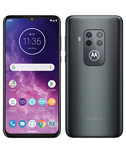 Motorola One Zoom with Alexa Hands-free Dual SIM Smartphone (6.4 Inch FHD+ Display, Quad Camera System, 128 GB/4 GB…
