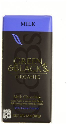 Green Black Milk Chocolate 3.5 Oz (Pack of 10)