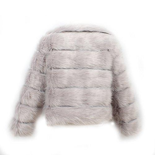 VLUNT Abrigo de Piel Chaqueta para Niños Pelo Chica Ropa Invierno Niña Tops Mangas Largas Abrigo de Pelo Chica Tops Piel Winter Fur Coat (Negro): Amazon.es: ...