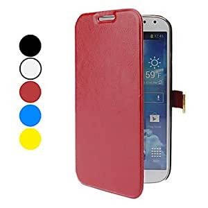 PEACH Fashionable PU Leather Case for Samsung Galaxy S4 I9500 (Assorted Colors) , Red