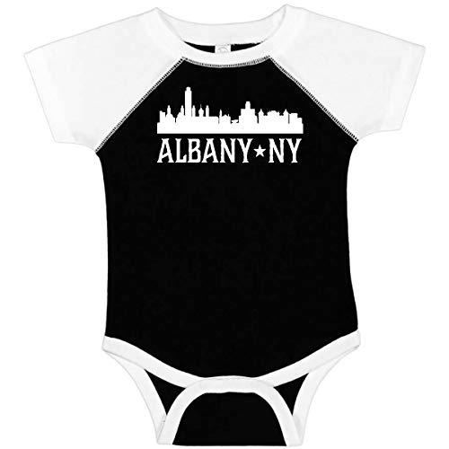 inktastic - Albany New York NY City Infant Creeper Newborn Black and White 26bbf