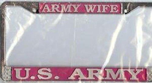 U.S. Army Wife Chrome License Plate Frame
