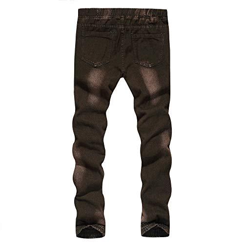 Ancien Jean Lavage Hop Trou Coton Travail De Denim Pantalon Hip Café Escalier RE7H4q8x
