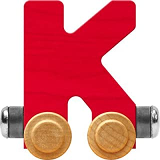 product image for Maple Landmark NameTrain Bright Letter Car K - Made in USA (Red)