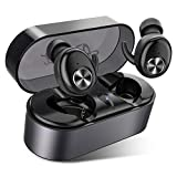 Wireless Earbuds, AairHut A2 Sweatproof Bluetooth 5.0 Stereo 3D Sound True Wireless Bluetooth Earbuds 15 Hour Playtime In-ear Earbuds with 28 Hours Playtime for Mono Mode and Easy Pair Tech